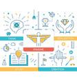 Career progress business people vector image