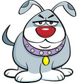 cartoon angry dog vector image vector image