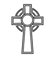 celtic cross icon black color flat style image vector image vector image