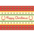 christmas decoration background with horseshoes vector image vector image