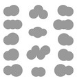 clouds differeny shapes simple style vector image vector image