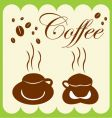 coffee cup and coffee bean vector image
