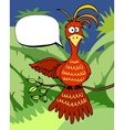 Cute cartoon bird with a speech bubble vector image vector image