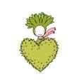 Cute cartoon succulent vector image