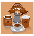 different kind of coffee vector image vector image