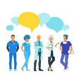 doctor speech bubble vector image vector image