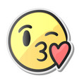 Emoji kissing smiling face emoticon with kiss