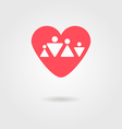 family heart icon vector image vector image