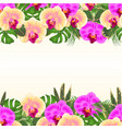 floral seamless background bouquet tropical vector image vector image