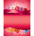 flowers vertical background vector image vector image