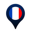 france flag and map pointer icon national flag vector image