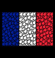 french flag pattern of plant leaf items vector image