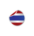 glossy theme thailand national flag vector image
