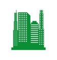 green cityscape isolated icon design vector image