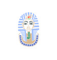hand drawing icon mask egyptian pharaoh vector image vector image