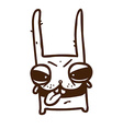Hand Drawn Evil Bunny vector image vector image