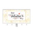 Happy valentines day billboard with modern