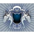 heraldry crest vector image vector image