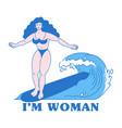 im woman feminism message vector image
