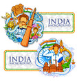indian background showing its incredible culture vector image vector image