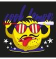 lemon character design print on a T-shirt vector image vector image