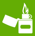 lighter icon green vector image vector image