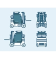 loader front side back view in line style vector image vector image