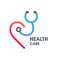 logo health care vector image vector image