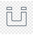 magnet concept linear icon isolated on vector image