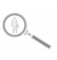 Magnifying glass and human vector image