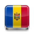 Metal icon of Moldova vector image vector image