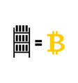 mining bitcoin farm icon extraction of vector image