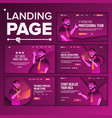 modern landing page concept store shop vector image