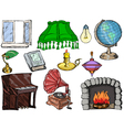 objects of interior vector image vector image