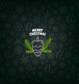 pattern with christmas logo merry christmas vector image vector image