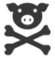 pig death halftone icon vector image