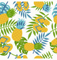 pineapple tropical jungle pattern for summer vector image
