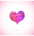 Pink painted heart vector image vector image
