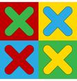 Pop art delete icons vector image vector image