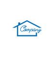 real estate logo design house logo design vector image vector image