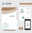 real estate website business logo file cover vector image vector image