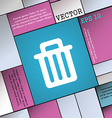 Recycle bin icon sign Modern flat style for your vector image
