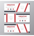 Red corporate business banner template horizontal vector image
