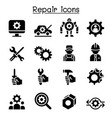 Repair fixing maintenance icon set