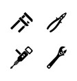 repair tools simple related icons vector image