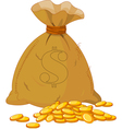 sack of gold vector image
