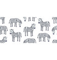 seamless pattern with zebras vector image vector image