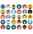 set diverse round avatars vector image