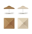 Set of Beige Market Cafe Umbrella for Branding vector image vector image