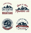 set of extreme adventure badges vector image vector image